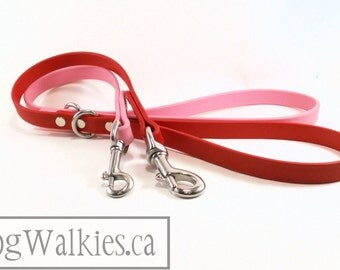 "Traffic Leash - Beta Biothane Leash - 5/8"" (16mm) wide - Car Leash - Choice of Hardware and Color - 24"" or 18"" (60cm or 45cm) Length"
