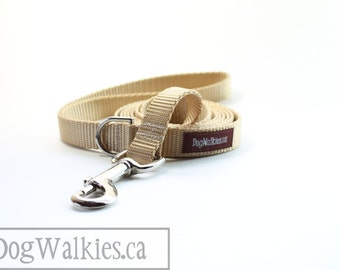 "Mix and Match Dog Leashes - 6ft Leash - Custom Color - 3/4"" (19mm) Wide - Plain Nylon Leash - 1.8 meter lead - Simple leash"