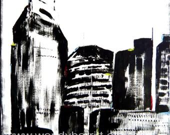 Nashville Skyline Abstract-Print-8x10