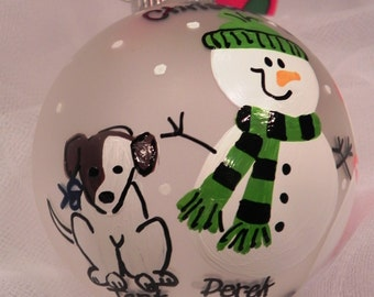 Add a Pet to your Snowman Ornament