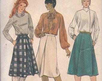 Basic Skirt Pattern Vogue 8062 Size 12 Waist 26 1/2 Uncut