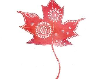 Maple Leaf Archival Art Print