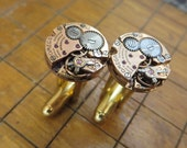 Omega 650 Watch Movement Cufflinks. Great for Fathers Day, Anniversary, Groomsmen or Just Because.  #673