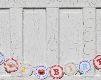 SESAME STREET INSPIRED Happy Birthday or Baby Shower Party Banner