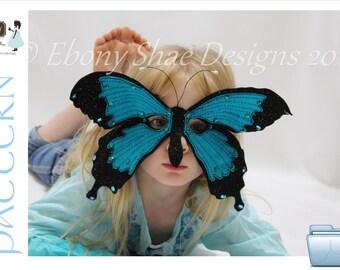 Felt Butterfly Mask PATTERN.  Digital Sewing Pattern PDF -kids butterfly costume