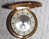 Vintage BENRUS 2 Toned Pocket Watch, Quartz, Works