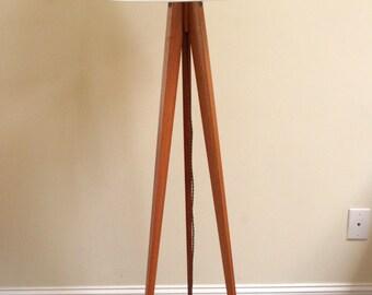 Tripod Slim Floor Lamp - Brazilian Cherry