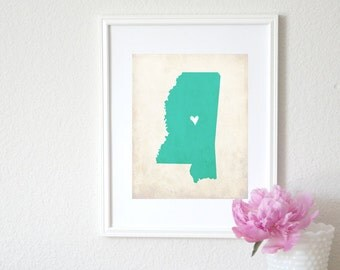 Mississippi Rustic State Map. Personalized Mississippi Map. Mississippi Wedding Map. Wedding Gift. Housewarming Gift. Art Print 8x10.