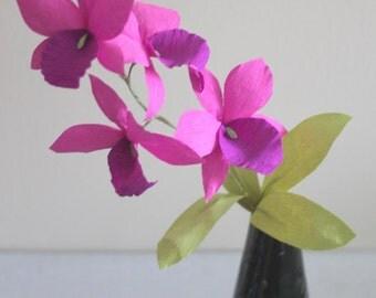 paper orchid paper cattelya purple orchid