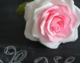 Single stem paper rose