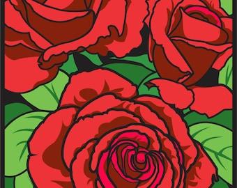 """Rose 8.5""""x11"""" Print"""