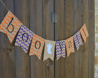 BOO Y'ALL burlap banner for Halloween