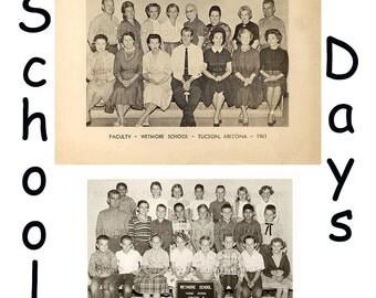 Vintage Classroom Photo Elementary School Children + Teacher Photograph 1961 School Picture 3 Photos for INSTANT Digital Download Printable