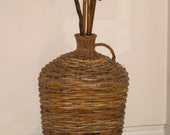 "Large Brown Wicker Jug (25"" tall - 49"" around)"