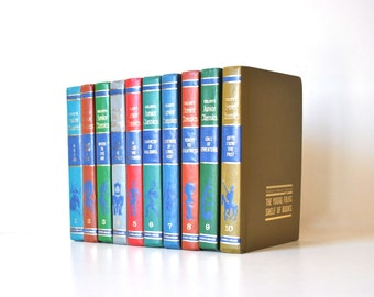 The Junior Classics, Vintage Children's Books, Colorful Book Collection - , Young Folks Book Shelf