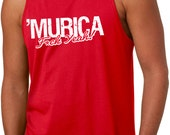 MENS 'merica Fuck Yeah Tank Top USA, back to school in style, summer tank, 4th of July, love america, birthday gift for country guy,bf S-2XL