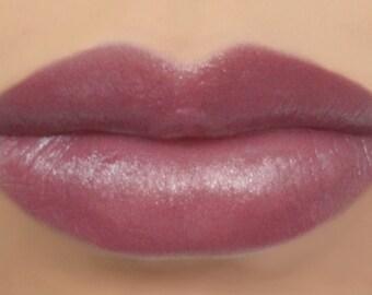 "Vegan Lipstick - ""Plum Fairy"" (natural light plum lipstick) lip tint, balm, lip colour"