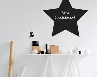 Star Chalkboard vinyl wall decal, Office And Home Decals - ID418