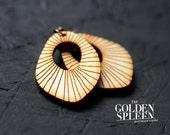 seashell wood earrings