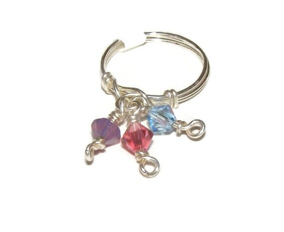 jewelry knuckle rings wire wrapped rings crystals