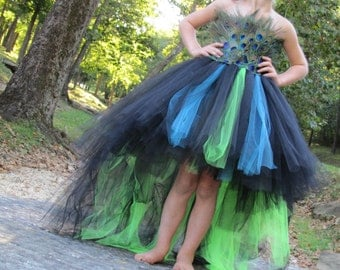 Peacock Flower girl, Peacock dress, Peacock costume, feather pageant dress, pageant dress, flower girl dress, costume
