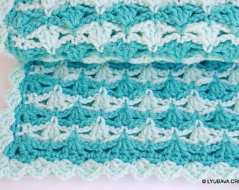Craft Supply-Crochet Baby Blanket PATTERN-Super Chunky Crochet Blanket Baby Boy or Girl-DIY Gift-Instant Download Pdf Digital Pattern No.56