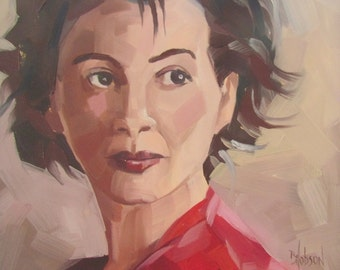 Original Oil Portrait Juliette
