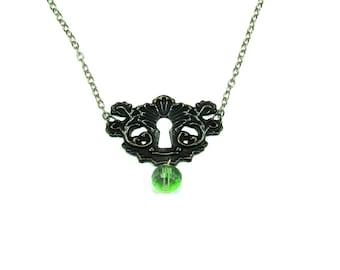 Just a Peek Key Hole Necklace  Steampunk Necklace, Steampunk Jewelry