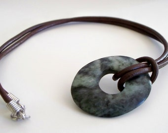 Hand-carved Soapstone Pendant