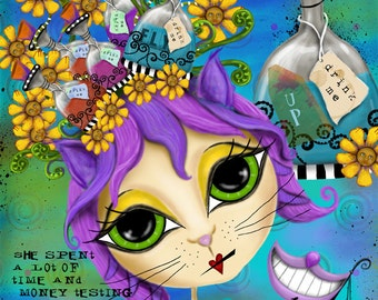 """Title: """"Look Within"""". Inspirational and colorful Giclee Art Print."""