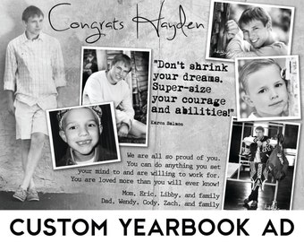 Custom Senior Yearbook Ad w/ Design Consultation