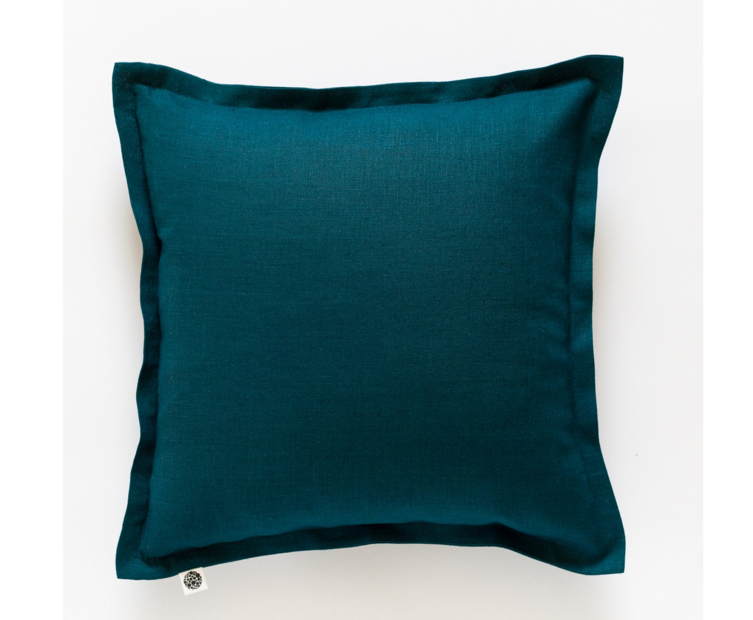 Throw Pillow Covers Teal : Teal throw pillow cover from linen blue cushion case