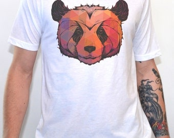 Abstract Panda T-Shirt  Men's Graphic Tshirt Vintage Style