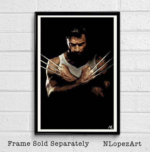 Hugh Jackman as Wolverine Poster Print