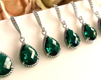Emerald Earrings,Emerald Wedding Earrings, Bridal Jewelry, Drop, Dangle Earrings,Bridesmaid Gift, Wedding Jewelry,Chirstmas GIFT, SALE!