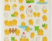 Kawaii Japan Sticker Sheet Assort: Chikens and Baby Chicks