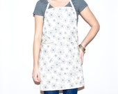 Off White Apron with Grey Detail for Cook Florist Baker Domestic Goddess