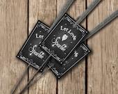 Wedding Sparkler TAGS - Let Love Sparkle - PRINTED chalkboard wedding tags - sold in SETS of 20