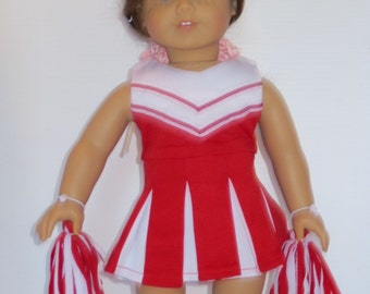 18 in Doll Cheerleading outfit