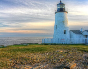 HDR Photography, Pemaquid, Lighthouse, Maine, High Dynamic Range