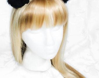 Anime Fleece Clip on Cat Ears - Fluffy Panda/Mouse Ears