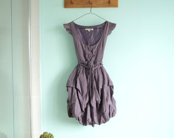 Vintage purple puffy dress - princess dress