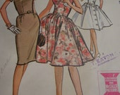 Vintage 1960's McCall's 6808 Dress Sewing Pattern, Size 12, Bust 32