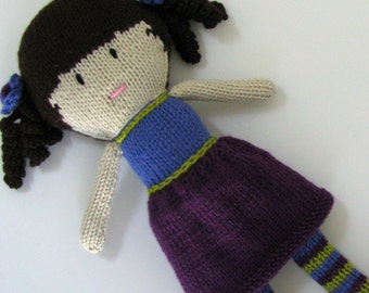 Knitted Doll - Hand Knit Toy - Plush Doll - Small Toy - Stuffed Toy - Knit Toy - Soft Toy - Kids Toy - Children Toy - Knit Doll  Chloe