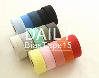 Cotton Knit Bias Tape - Choose From 15 Colors - 3.4 cm Wide (1.4 inches) 60322 - GJ - 65