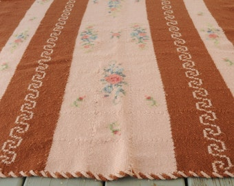 Roses Crochet Cross Stitch Afghan Cottage