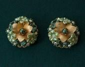 BEAUJEWELS Clip Earrings 1950's Vintage