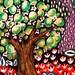 Tree Print, Tree Art, Whimsical Landscape, Kids Room Decor, Nature Print, Green And Red, Green Wall Art, Happy Tree by Paula DiLeo_61314