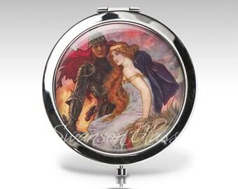 Personalized Compact Mirror - Love Romance - Magnifying Mirror - Birthday Gift - Personalized Gift - Party Favor  C12