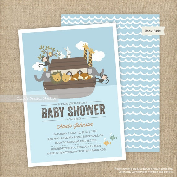 noah 39 s ark invitations noah 39 s ark baby shower invitations set